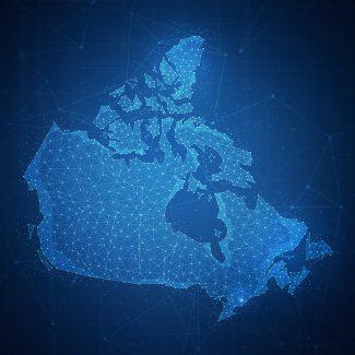 Polygon Canada map on blockchain hud banner